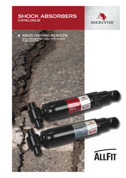 SHOCK ABSORBERS - Meritor Parts Online