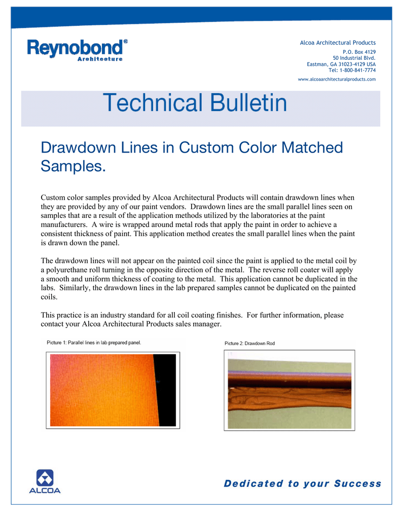 Color drawdown - Drawdown Lines In Custom Color Matched Samples