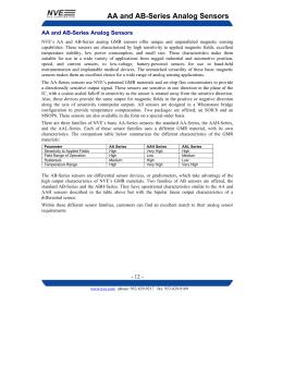 GMR Sensor Catalog