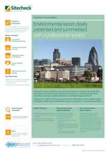 Environmental report clearly presented and summerised with a