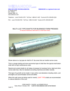 multi-lug type shafts for business form presses