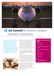Jet ConneX for Business Aviation Ultimate Connectivity