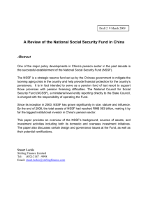 A Review of the National Social Security Fund in China Abstract