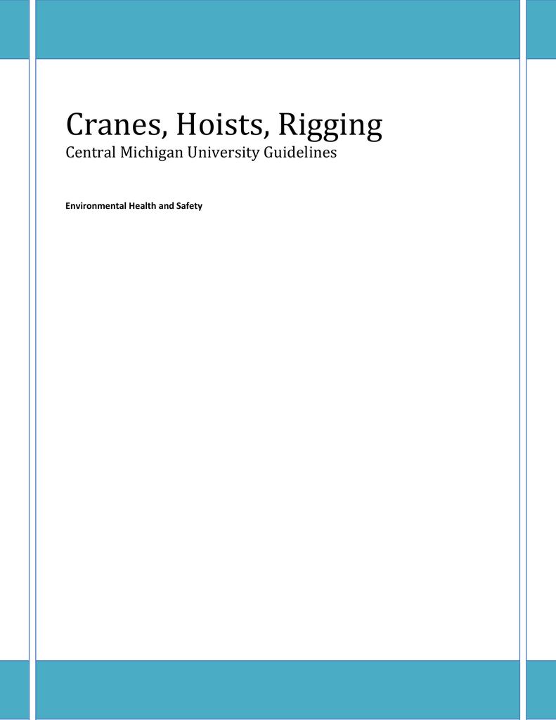 Cranes, Hoists, Rigging - Central Michigan University