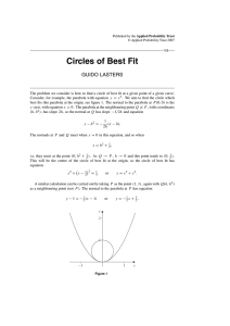 Circles of Best Fit - Applied Probability Trust