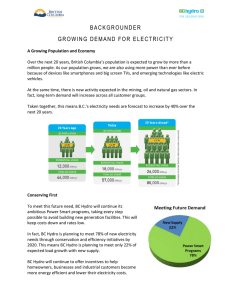 Growing Demand for Electricity