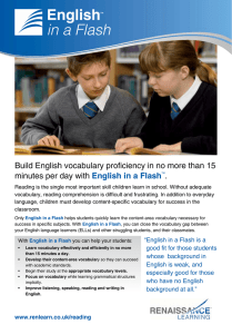 Build English vocabulary proficiency in no more than 15 minutes per