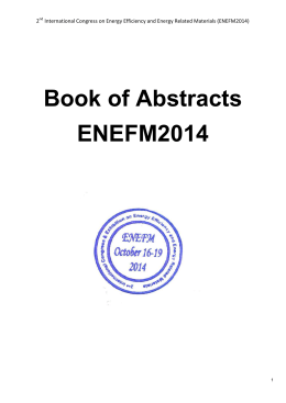 Book of Abstracts ENEFM2014