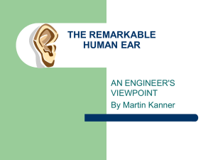 THE REMARKABLE HUMAN EAR