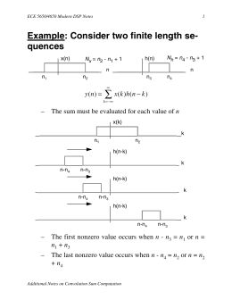 Example: Consider two finite length se
