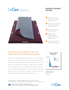 The Bedside Guardian™ Fall Mat helps minimize fall-related