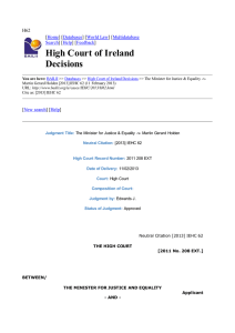 High Court of Ireland Decisions