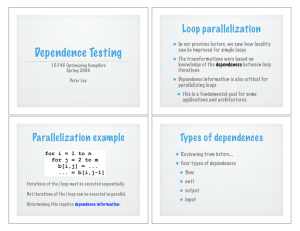 Dependence testing and parallelization