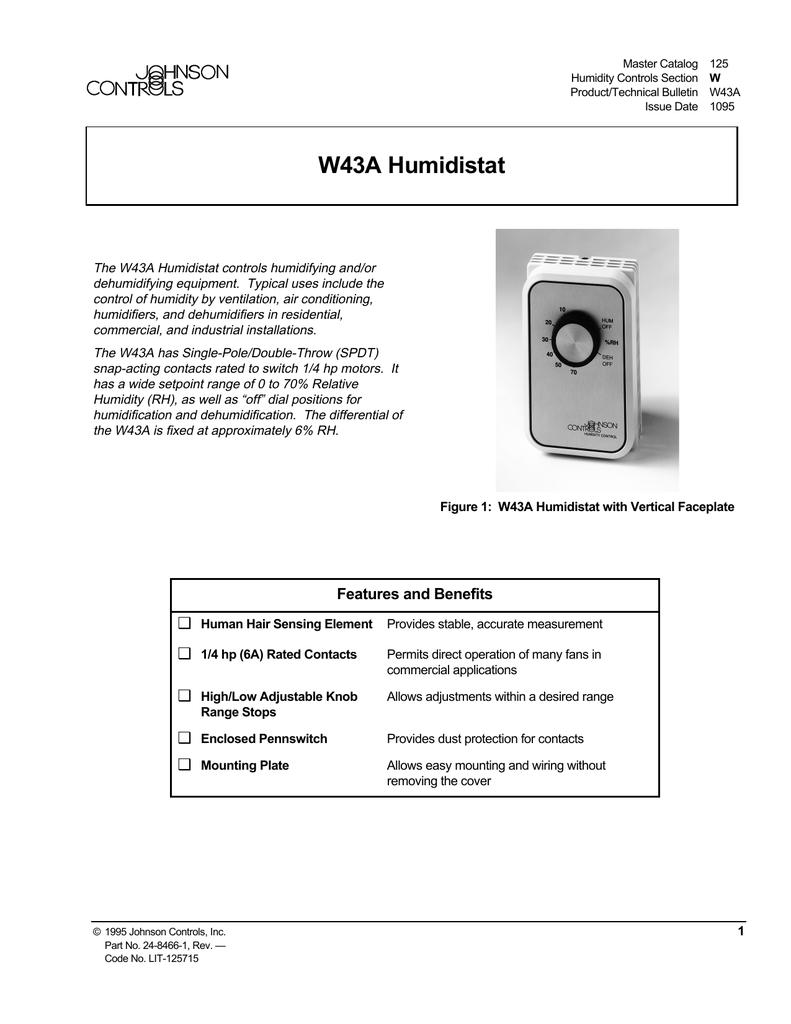 W43A Humidistat