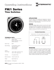 FM1 Series Instructions