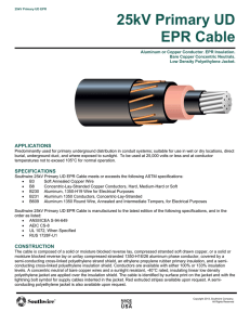 25kV Primary UD EPR Cable