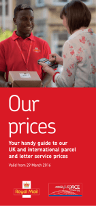 Our prices - Royal Mail