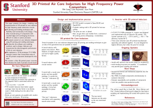 3D Printed Air Core Inductors for High Frequency Power Converters