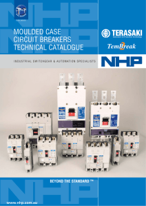 MOULDED CASE CIRCUIT BREAKERS TECHNICAL CATALOGUE