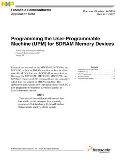 Programming the User-Programmable Machine (UPM) for