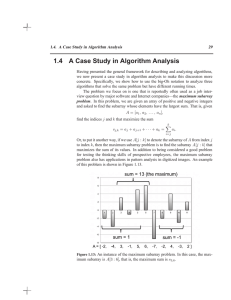 1.4 A Case Study in Algorithm Analysis