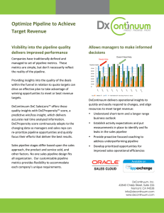 Optimize Pipeline to Achieve Target Revenue