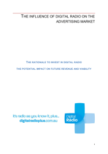 the influence of digital radio on the advertising market