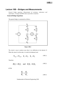Lecture 10B - Bridges and Measurements