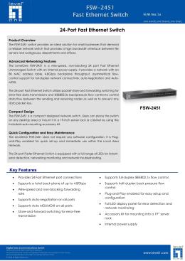 FSW-2451 Fast Ethernet Switch Fast Ethernet Switch