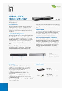 24-Port 10/100 Rackmount Switch - ZA-TEC