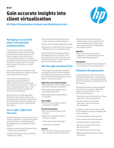 HP Client Virtualization Analysis and Modeling Service (brief)