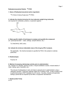 Page 1 Radiopharmaceutical Details: 18F