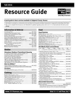United way of hastings resource guide.