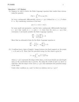 F1.9AB2 1 Question 1 (17 Marks) (a) Suppose we wish to derive the