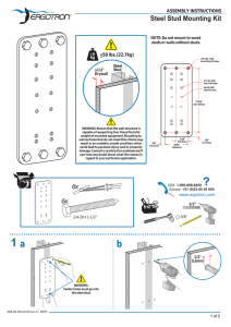 Steel Stud Mounting Kit