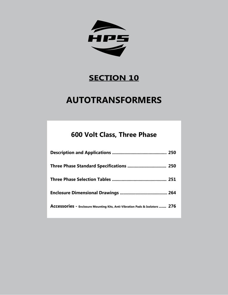 autotransformers - Hammond Power Solutions on