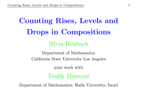Counting Rises, Levels and Drops in Compositions