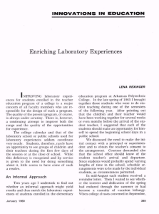 Enriching Laboratory Experiences