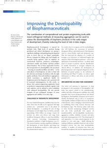Improving the Developability of Biopharmaceuticals