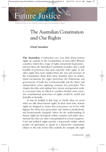 The Australian Constitution and Our Rights