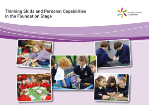 Thinking Skills and Personal Capabilities in the Foundation Stage