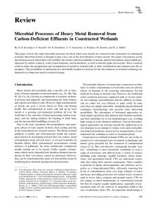 Microbial Processes of Heavy Metal Removal from Carbon
