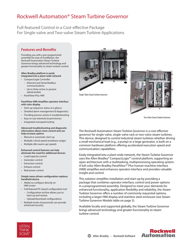 Rockwell Automation® Steam Turbine Governor
