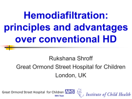 Hemodiafiltration: principles and advantages over conventional HD