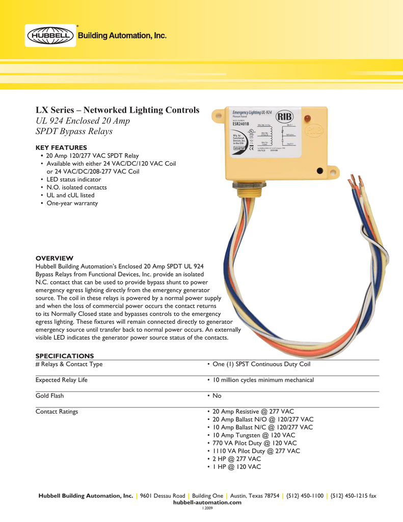 Ul 924 Enclosed 20 Amp Spdt Bypass Relays Product Electronic Ballast Rated Relay