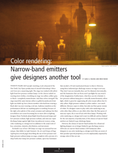 Color rendering: Narrow-band emitters give designers another tool