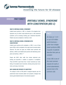 disease fact sheet: irritable bowel syndrome with constipation (ibs-c)