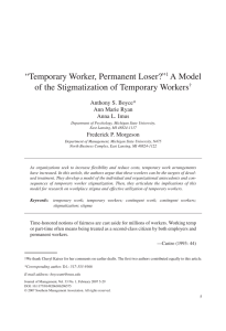 Temporary Worker, Permanent Loser?