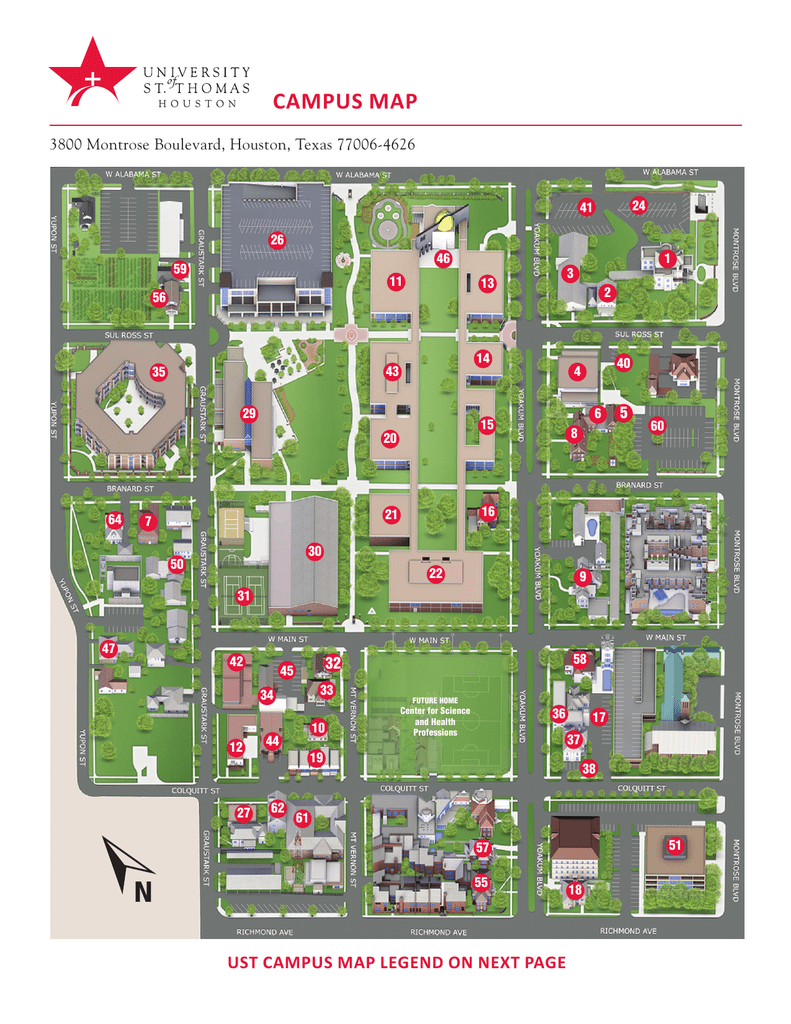 map of ust campus Campus Map University Of St Thomas map of ust campus