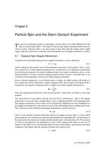 Particle Spin and the Stern